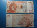 Kongo Banknot 20 Francs 1997  P-88A UNC Lew