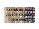 PLOMBY GWARANCYJNE STICKERY 20x10 HOLOGRAM 1000SZT