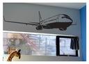 Naklejka na ścianę/ścienna samolot - Boeing 1x0,2m