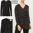 MAMA LICIOUS bluzka do karmienia/ciążowa PEACH L