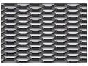 ALUMINIUM MESH schwarz 30 mm x 10 mm! 40 x 100 cm