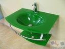 Szklana umywalka z baterią 827 Green