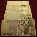 ZESTAW BANKNOTÓW EURO !!! 24 KARAT GOLD !!! SUPER