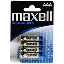 Baterie bateria alkaliczna AAA LR03 Maxell 4 szt