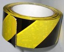 Taśma ostrzegawcza żółto-czarna samoprzylepna