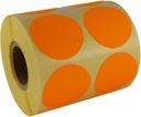 pomarańczowe okrągłe kółeczka etykietki kółka 32mm