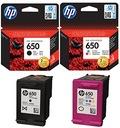 2HP 650 tusze 1515 2515 3515 2510 DeskJet drukarki