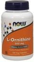 NOW L-Ornithine 500mg 120kap ORNITYNA WZROST
