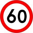 Znak Drogowy B 400mm ograniczenie b-33 np 60 km/h