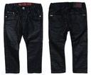 H&M Nowe czarne woskowane SPODNIE Suwaki - 98