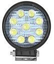 LAMPA ROBOCZA 9LED 27W IP67 1200lm OKRĄGŁA OFFROAD Producent części Inny