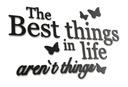 Napis na ścianę 3D Drewniany - Best things in life