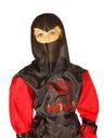 strój NINJA czerwony przebrane 122-128 kostium KAI