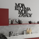 DREWNIANY NAPIS 3D - Moja kuchnia moje zasady Pomieszczenie biuro kuchnia pokój dziecięcy salon sypialnia inne pomieszczenie