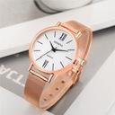 Zegarek damski GENEVA klasyczny biały złoty Mechanizm kwarcowy