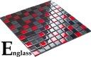 Mozaika szklana mix szaro czerwony BALCELO ENGLAS