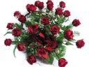 Kosz kwiatów 25 róż kwiaty Stroik na grób napis