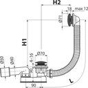 ALCAPLAST SYFON WANNOWY KLIK KLAK CZARNY MAT A507