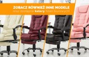 Fotel biurowy Elgo masaż podnóżek obrotowy czarny Głębokość siedziska 52 cm