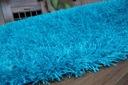 DYWAN SHAGGY LILOU 160x230 turkus POLIESTE #DEV564 Kolor odcienie niebieskiego
