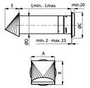 Nawietrzak okrągły stabilizator NOS110A-CC DARCO Kod produktu Nawietrzak NOS110A-CC