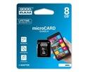 KARTA GOODRAM MICRO SD 8 GB PAMIĘCI + ADAPTER SD