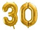 Воздушные шары 30 на день рождения  86cm ЗОЛОТЫЕ FB1M-30 -019