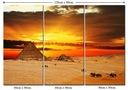 Obraz Widok Pustynia Piramidy Zachód Słońca