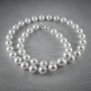 Naszyjnik srebrny SWAROVSKI Engelke perły białe
