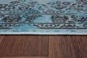 DYWAN VINTAGE 80x150 ROZETA niebieski czarny #B771 Szerokość 80 cm
