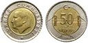 Turcja - monety - 50 Kurus - 100 sztuk - TANIEJ !! Rok 2009