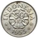 Indonezja - moneta - 50 Sen 1955 - RZADKA !