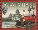 Łotwa.Muzeum.Samochód pożarniczy.1 znaczek **.2010