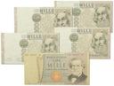 20.Włochy, Zest.Banknotów szt.5, St.3/3+