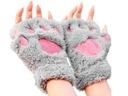 Rękawiczki bez palców kocie niedźwiedzie łapki