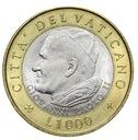 Watykan - moneta - 1000 Lir 2001 - RZADKA !