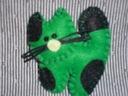 Broszka rękodzieło- filc z filcu --kotek