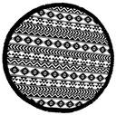 Okrągły ręcznik HUGme Paraiso 150cm