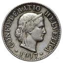 Szwajcaraia - moneta - 5 Rappen 1917 - RZADKA !