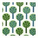 Tkanina FREDRIKA Ikea drzewa 2 zasłony