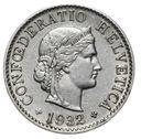 Szwajcaraia - moneta - 5 Rappen 1932