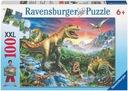 Puzzle 100 el XXL EPOKA DINOZARÓW DINOZAURY wiek 6