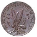 Watykan - moneta - 5 Centesimi 1934 - RZADKA !