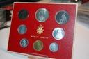 Watykan  1965 8 monet 1x srebro +7x miedzionikiel