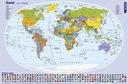 Mapa Świata. Podkładka na biurko.