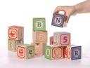 Klocki alfabet drewniane ABC