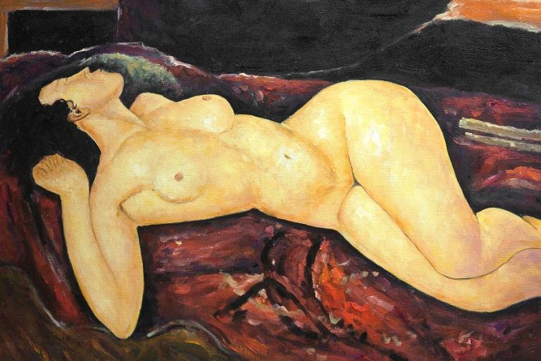 Akt Leżący Amedeo Modigliani Obraz Olejny