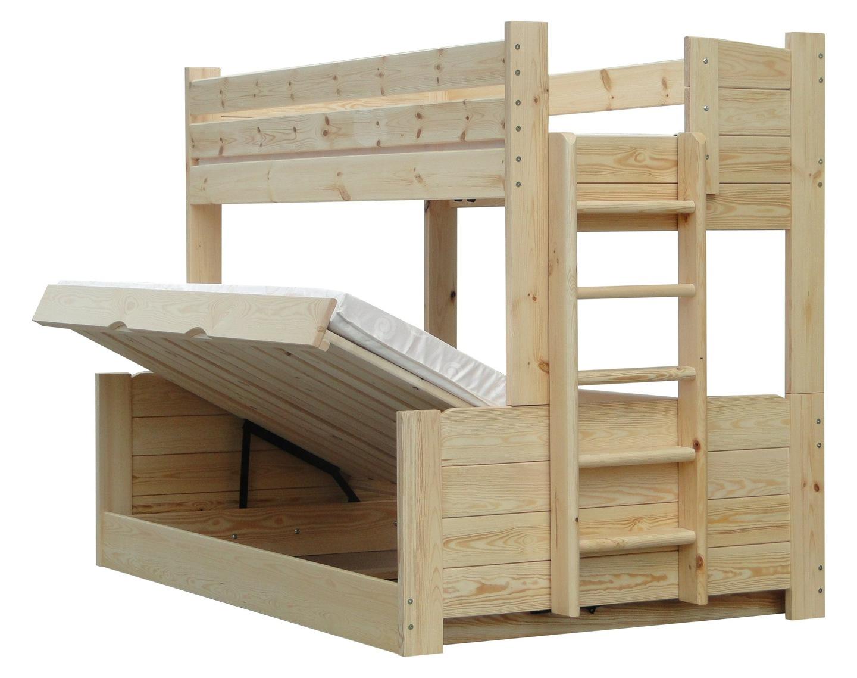 Omega 120x200 łóżko Piętrowe Trzyosobowe 150kg