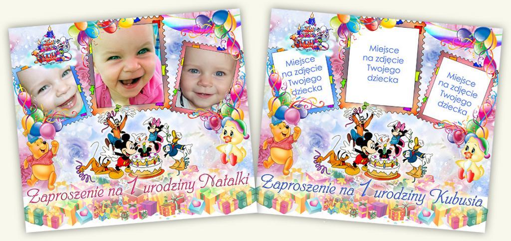 Zaproszenia Na Urodziny Roczek Ze Zdjęciem 5644068236 Allegropl