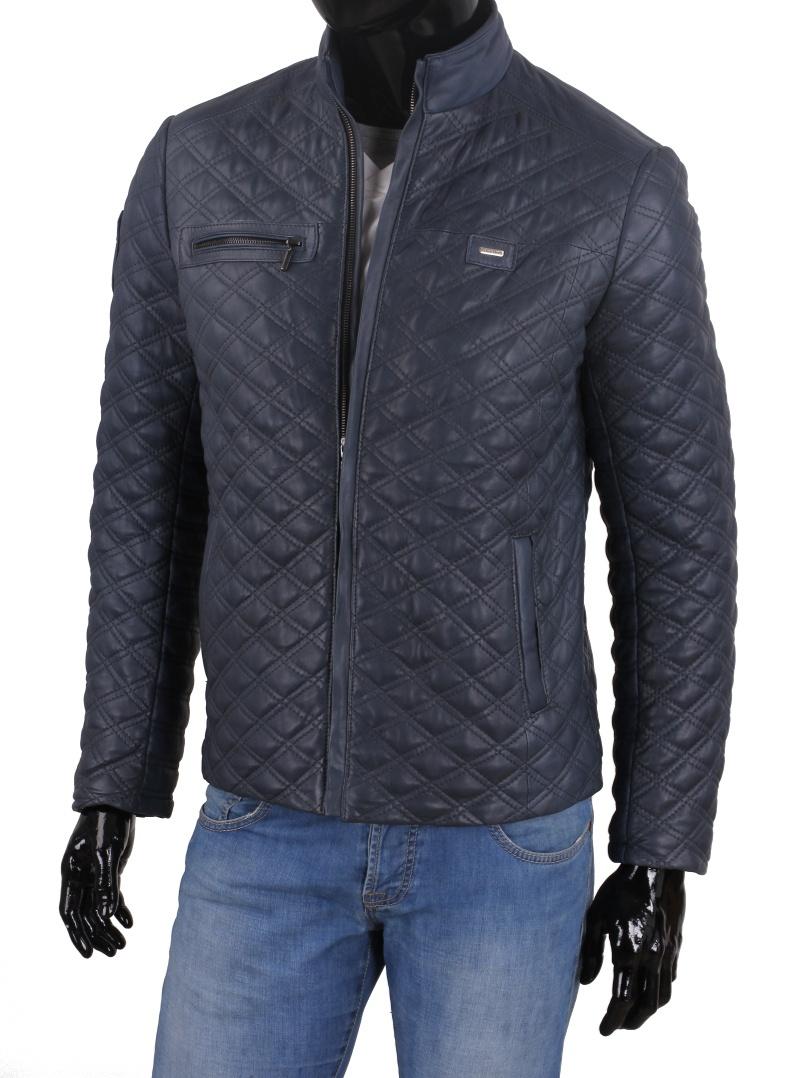 baa8dfa7d05eb Model ARM074 to lekka, skórzana kurtka w modnym niebieskim kolorze. Pikowana  technologią Thermo Fleece, która zapewnia doskonałą izolację termiczną, ...